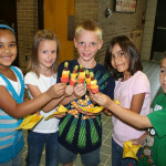 Healthy children who eat healthy food