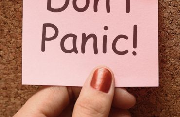 Don't Panic Note Means No Panicking Or Relaxing