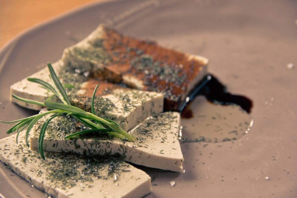 järnberikad tofu för veganer