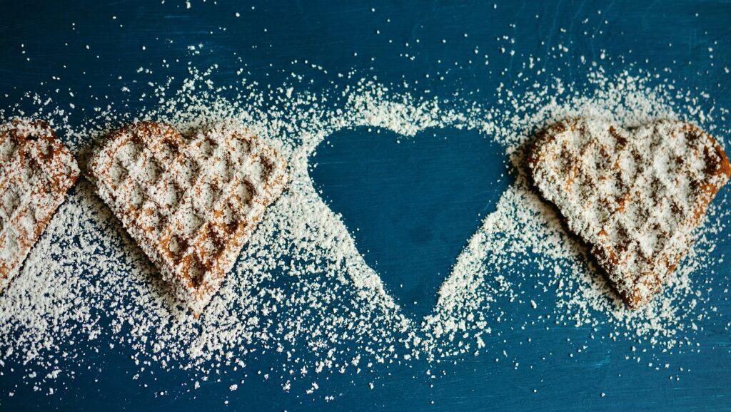 du äter för mycket mat med socker i